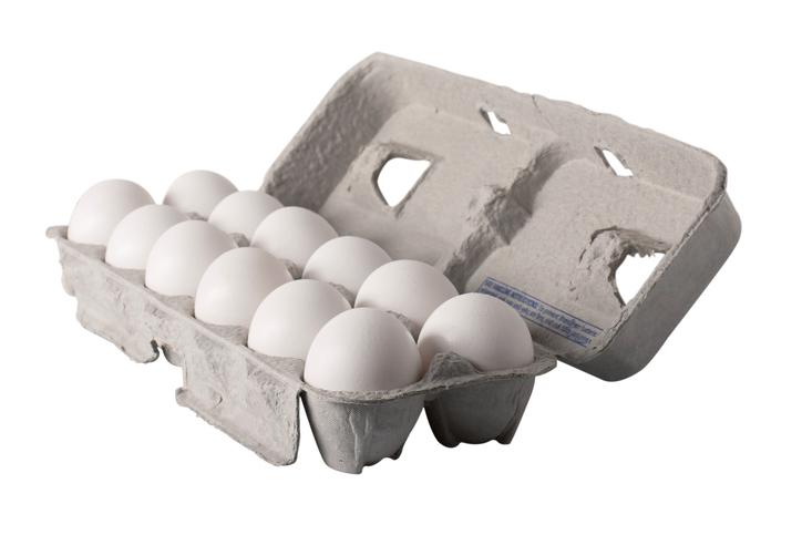carton of a dozen fresh eggs